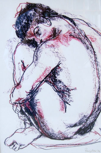 Crouched Male (44 x 30 cms). Series: Figurative. Category: figurative