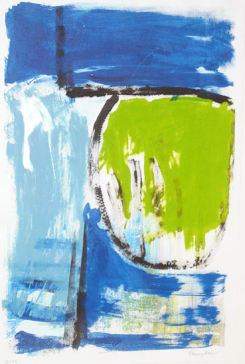 Lone Space II (44 x 28 cms). Series: Lone Space. Category: screenprints